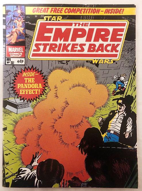 Vintage Star Wars Empire Strikes Back No 151 Nov 1981