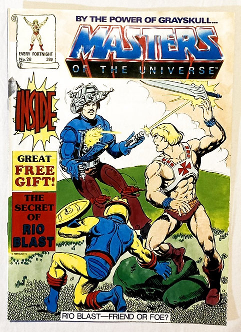 He-Man And The Masters Of The Universe Comic No 28 With Free Gift 1987
