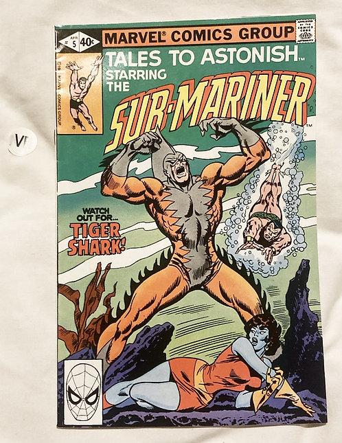 Marvel Tales To Astonish Sub-Mariner #5 April 1979