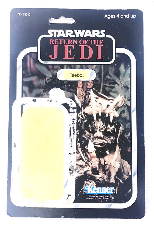 Vintage Star Wars ROTJ Teebo Backing Card