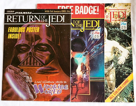 Vintage Star Wars Return Of The Jedi Comic Set 1983