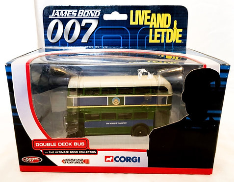 James Bond 007 Live And Let Die Double Deck Bus Corgi