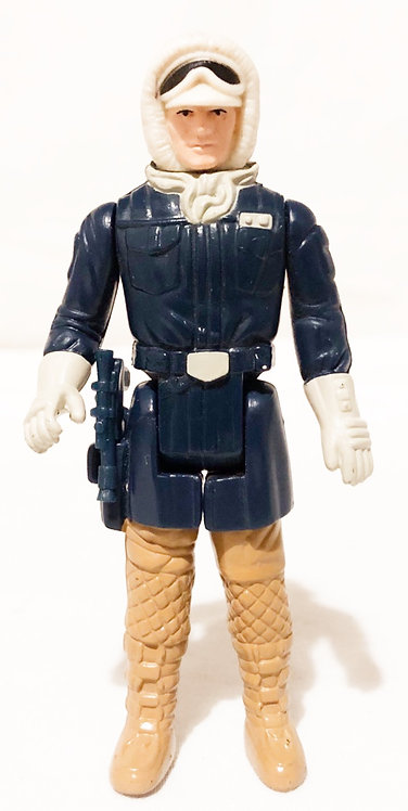 Vintage Star Wars Empire Strikes Back Hoth Han Painted Face Kenner 1980