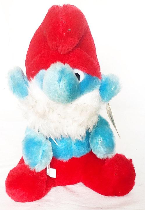 The Smurfs Papa Smurf Small Plush  1981