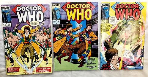 Vintage Doctor Who Comic Set #11 #8 #6 1985