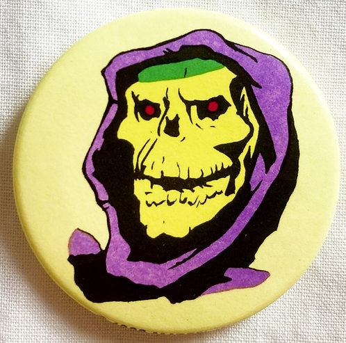 He-Man And The Masters Of The Universe Skeletor Badge 4cm Mattel 1980