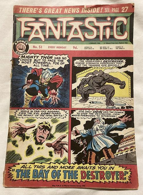 Marvel Fantastic The Mighty Thor No 51 February 1965