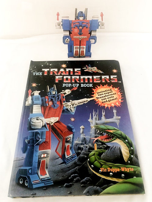 Transformers Pop-Up Book With Two Card Transformer 1986