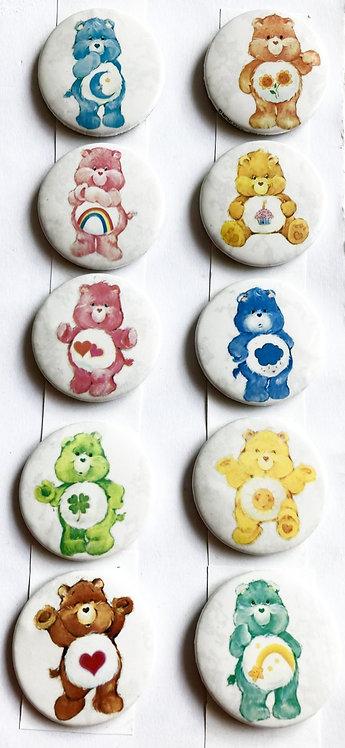Care Bears Badge Set American Greetings 1982