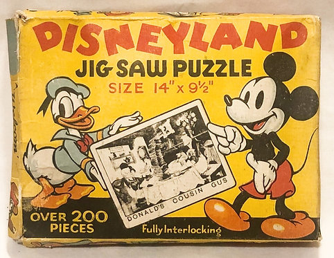Disney Land Jigsaw Puzzle In Bright Colours No 18 Welcom 1955