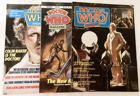 Vintage Doctor Who Magazine / Monthly Set Of 3 (03)