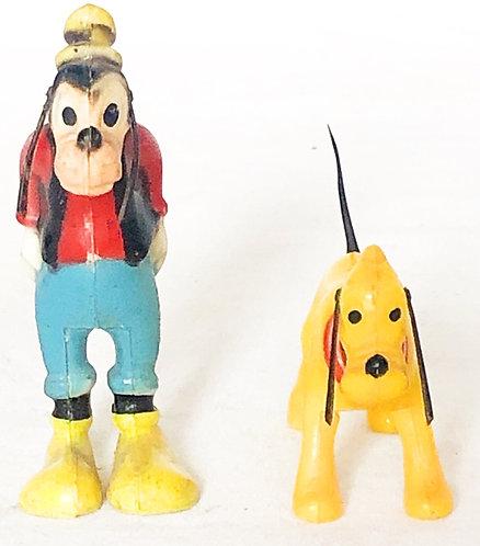 Disney Goofy And Pluto Head Knocker Set Marx 1969
