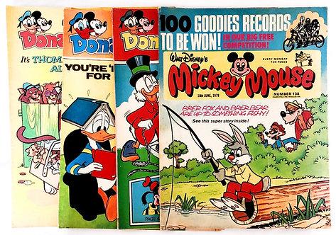 Walt Disney Mickey Mouse Vintage Comic Set