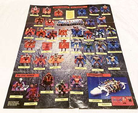 Vintage He-Man And The Masters Of The Universe Figure Playset Poster 1983
