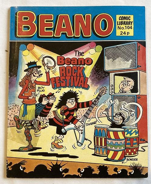 Beano The Beano Rock Festival No 104 1986