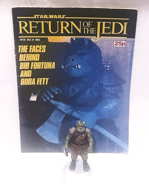 Vintage Star Wars Return Of The Jedi Figure and Comic Set 1983