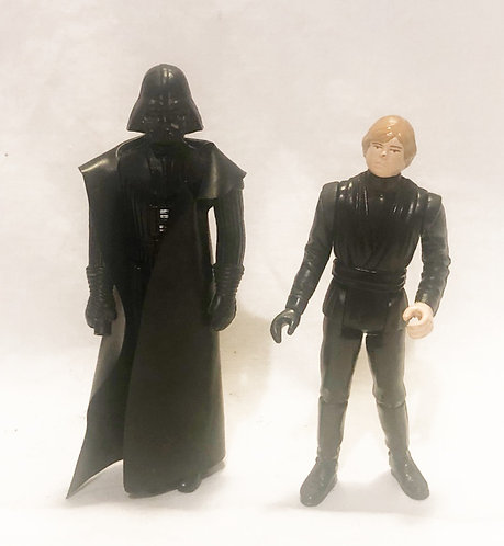 Vintage Star Wars Darth Vader And Jedi Luke Set