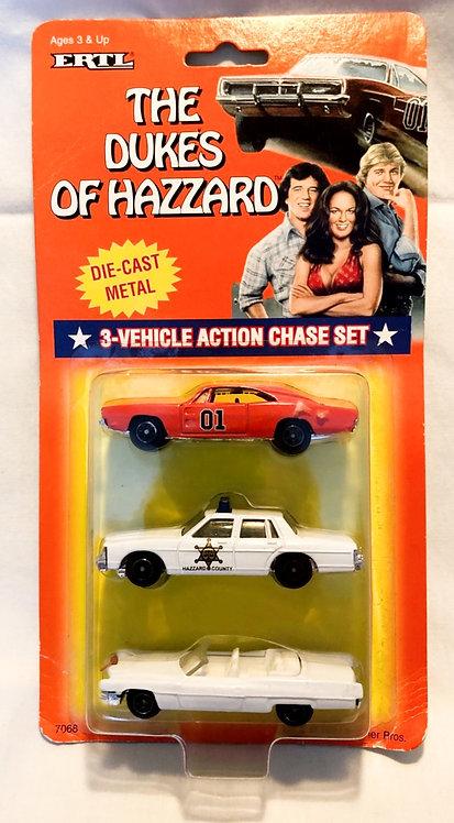 The Dukes Of Hazard 3-Vehicle Action Chase Set Ertl 1997
