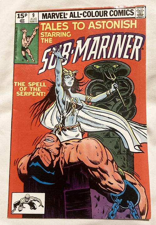 Marvel Tales To Astonish Sub-Mariner #9 August 1979