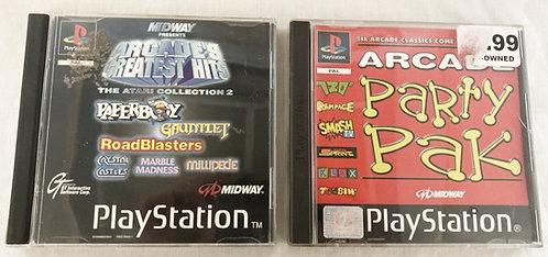 Sony Playstation Arcade Classics And Arcade Party Pak  U.K. (Pal)