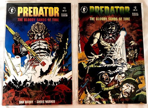 Predator The Bloody Sands OF Time Comic Set Dark Horse 1992