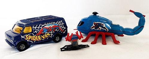 Vintage Spider-man Corgi Vehicle Set