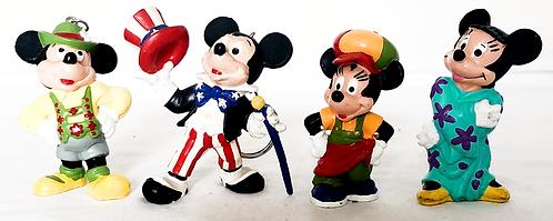 Disney Vintage Mickey And Mini Key Ring Mouse PVC Bully