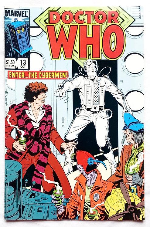Doctor Who Vintage Comic No. 13 1985 And Cyberman Figure Corgi Set