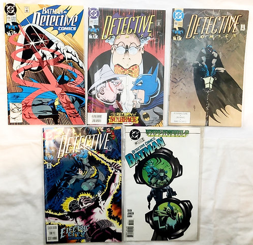 Detective Comics Batman Comic Set #616 #632 #642 #645 #692