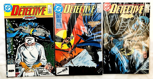 Vintage Detective Comics DC Batman Comic Set #579 #595 #596