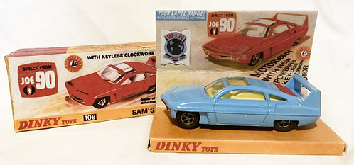 Joe 90 Sams Car Blue With Repro Box Dinky 1967
