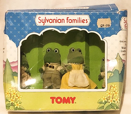 Original Sylvanian Families Bullrushes Frog Family