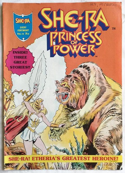 She-Ra Princess Of Power No 14 Comic 1987