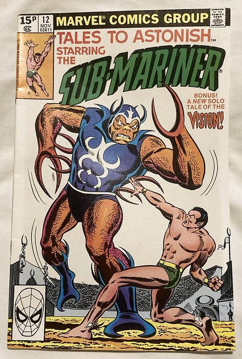Marvel Tales To Astonish Sub-Mariner #12 November 1979