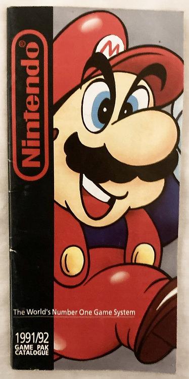 Nintendo 1991/92 Game Pak Catalogue