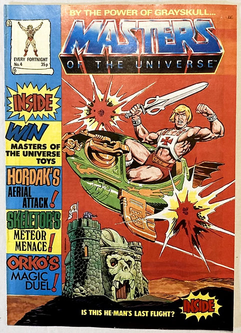He-Man And The Masters Of The Universe Comic No 4 1986