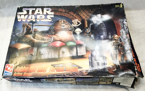 Star Wars Jabba The Hutt Throne Room Action Scene Model Kit AMT Ertl
