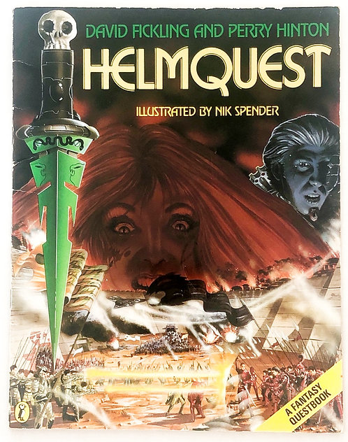 HelmQuest Fantasy Quest Book 1986