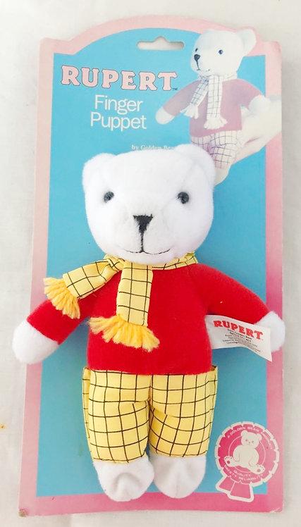 """Rupert The Bear Bean Toy 6"""" Golden Bear 1988"""
