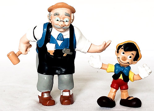 Disney Pinocchio And Geppetto PVC Set Bully