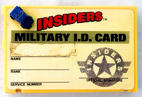 Micro Machines Insiders I.D. Card Play Set Galoob 1990