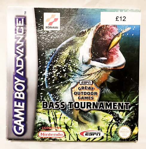 Great Outdoor Games Bass Tournament Nintendo Game Boy Advance