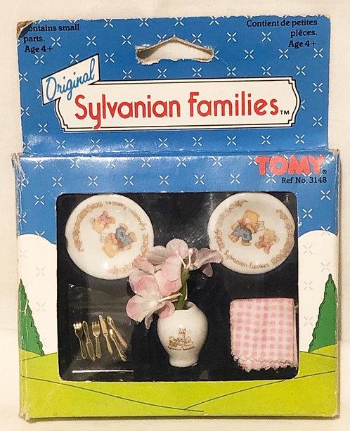 Original Sylvanian Ceramic Tableware & Kitchen Utensils Tomy