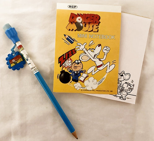 Danger Mouse Pencil And Note Pad Set 1981