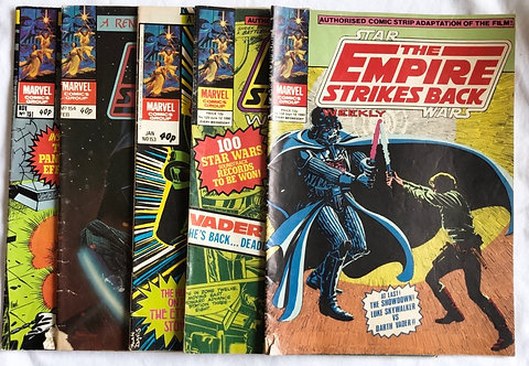 Vintage Star Wars The Empire Strikes Back Comic Set 1980
