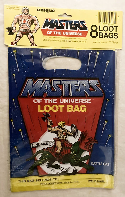 Vintage He-Man And The Masters Of The Universe Loot Bags Taiwan Unique 1985