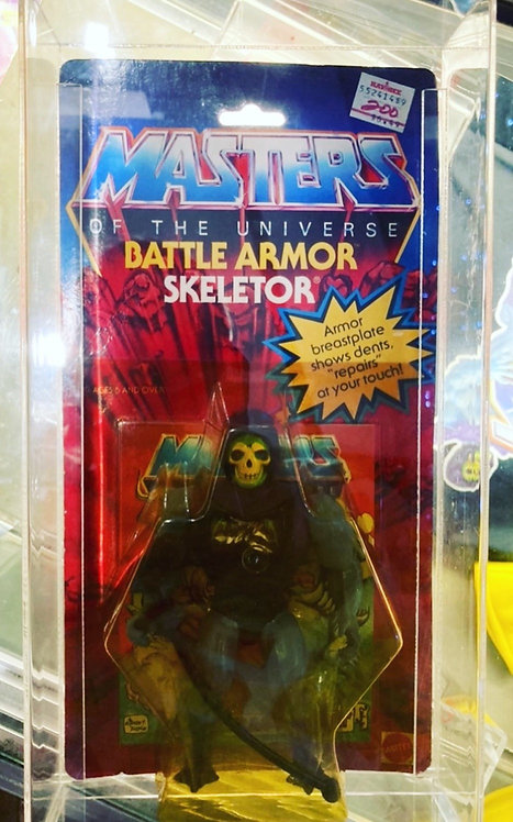 He-Man And The Masters Of The Universe Battle Armour Skeletor + Case Mattel 1983