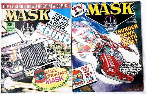M.A.S.K. Comic No.3 And No.4 Set  U.K. 1986
