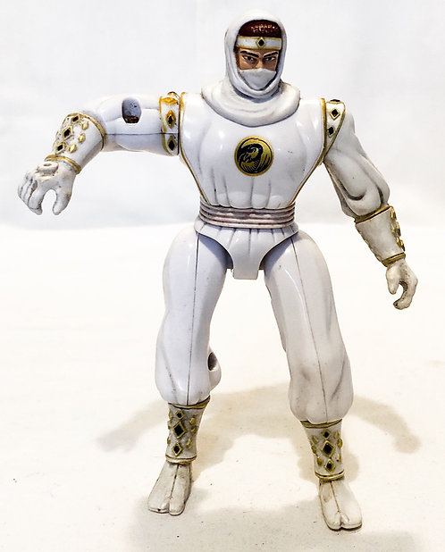 Mighty Morphin Power Rangers White Ninja Ranger Bandi 1995