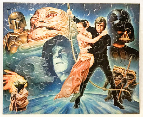 Vintage Star Wars Return Of The Jedi Puzzle 1983